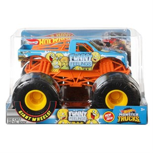 Hot Wheels 1:24 Monster Trucks Arabalar Funny Feelings GBV40